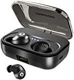 PASONOMI Bluetooth Earbuds Wireless Headphones Bluetooth Headset Wireless Earphones IPX7 Waterproof Bluetooth 5.0 Stereo Hi-Fi Sound with 2200mA Charging Case [2019 Version] (Black)