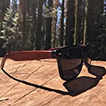 Woodies Rose Wood Sunglasses with Polarized Lenses 17 BONUS ITEMS: FREE Carrying Case, Lens Cloth, and Wood Guitar Pick BUY WITH CONFIDENCE: 30-Day Money Back Guarantee