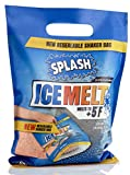 SPLASH ice melt resealable Shaker Bag, 10lb, Melts to +5F, Sodium Choloride, Snow & ice Salt, Concrete Safe, Good for driveways, Sidewalks, Decks/patios