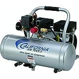 California Air Tools Cat 2010A Ultra Quiet and Oil-Free 1.0 hp, 2.0 Gallon Aluminum Tank Air Compressor, Silver