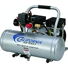 California Air Tools Cat 2010A Ultra Quiet and Oil-Free 1.0 hp, 2.0 gallon Aluminum Tank Air Compressor, Silver