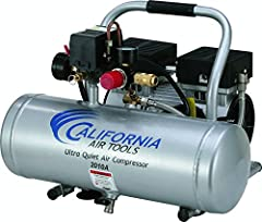 The CALIFORNIA AIR TOOLS2010A Ultra Quiet & Oil-FreeAir Compressor is designed to be one of the quietest air compressors in the industry having only60 decibels of sound. The powerful1.0 HP (SP-9413) motor operates at only 1680 RPM cre...