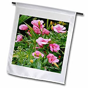 SmudgeArt Flower Art Designs - Pretty In Pink Flowers - Photography Flowers - 12 x 18 inch Garden Flag (fl_6629_1)