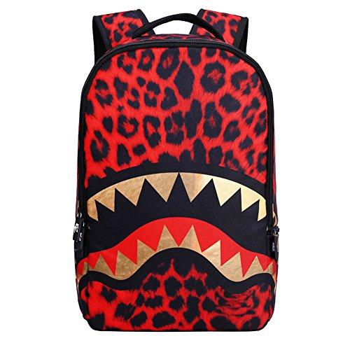Kids Backpack Childrens School Bag Teenager Book Bag for Boys&Girls (Shark Red)