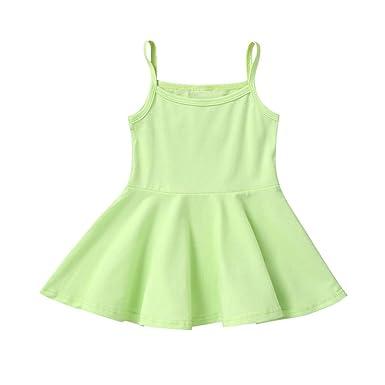 YWLINK - Vestido de Verano para niña con tutú sin Mangas, sin ...