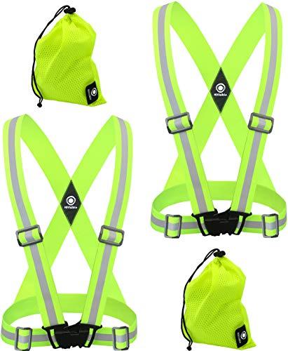 (HiVisible Reflective Vest (2 x Green Vests))