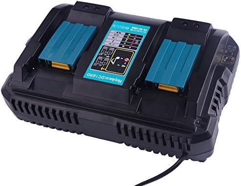 DC18RD doble puerto Cargador para Makita 14.4V 18V Iones de litio ...