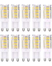 10-pack G9 LED-lampen 3000K 2835 SMD, AC 220-240V, CRI > 82, LED-keramische lamp, 360 ° stralingshoek, LED-lamp, LED-lamp, LED-lamp, LED-lamp, warm wit