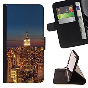 For Samsung Galaxy S3 III I9300 New York City Leather Foilo Wallet Cover Case with Magnetic Closure