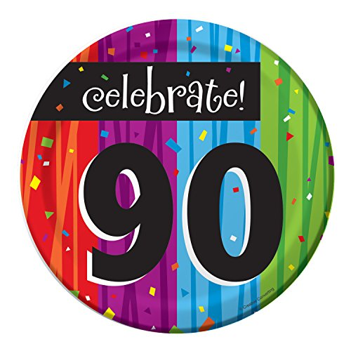 Milestone Celebrations 90th Birthday Dessert Plates, 24 ct]()