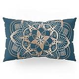 Society6 Metal Mandala On Blue Pillow Sham King (20'' x 36'') Set of 2