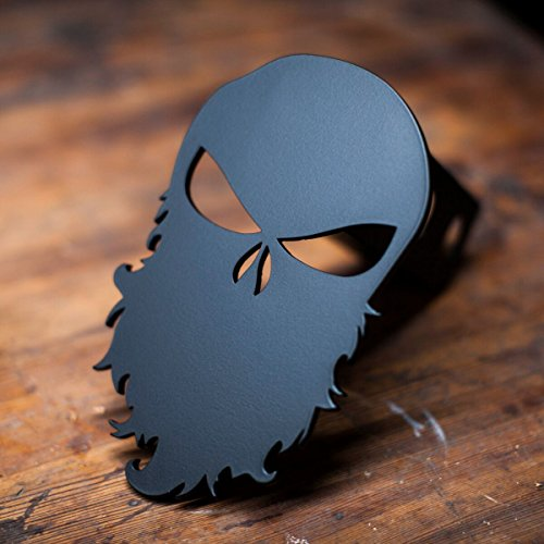 Punisher Trailer Hitch Cover - Bearded ()