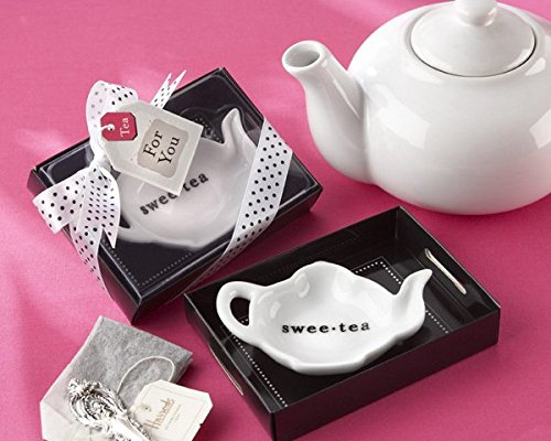 ''Swee-Tea'' Ceramic Tea-Bag Caddy in Serving-Tray Gift Box [Set of 96]