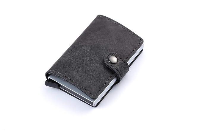 e3990af72477 Amazon.com: 2019 Unisex Metal Card Holder RFID Aluminium Credit Card ...