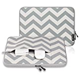 "Runetz - 12-inch Chevron GRAY Neoprene Sleeve Case Cover for The New MacBook 12"" with Retina Display and Laptop 12"" - Chevron Grey"