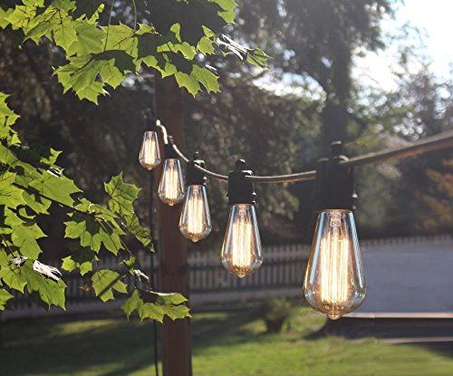 Decorative-Patio-Style-Outdoor-or-Indoor-Lighting-48-Foot-Weatherproof-Commercial-Grade-Black-String-Lights-with-Edison-Bulbs-Nostalgic-Vintage-Party-Lawn-Garden-Wedding-Holiday-Decorations