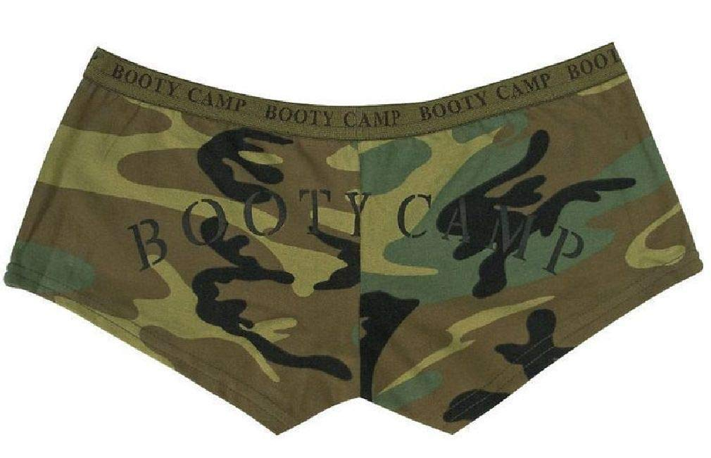 Women's Booty Shorts Casual Army Lounging Shorts Military by BlackC Sport