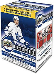 2019-20 UPPER DECK Hockey Series 2 Trading Cards Blaster Box 8 Packs
