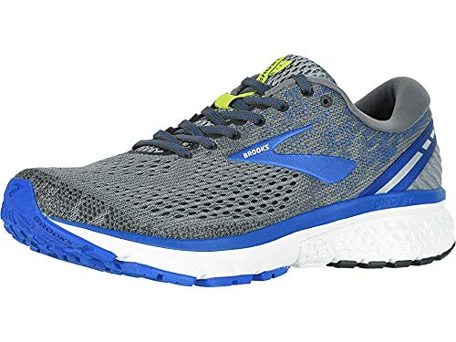 - Brooks Men's Ghost 11 Grey/Blue/Silver 12 B US