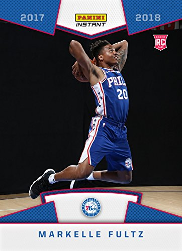 Official Nba Basketball Card (2017-18 Panini Instant NBA Basketball #15 Markelle Fultz Rookie Card - 1st Card in a Philadelphia 76ers Uniform - Only 589 made!)