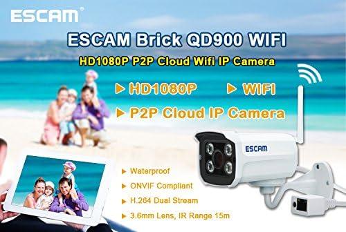 ESCAM QD900WIFI Caméra de Maison Sécurité Infrarouge Caméscope Sans Fil EU