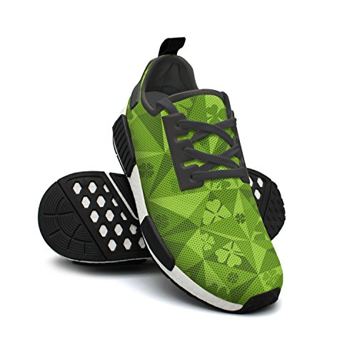 Sneakers Fashion Original Sneakers Plant Lucky Breathable Lightweight Shamrock Green FAAERD Womens Mesh UPqF6