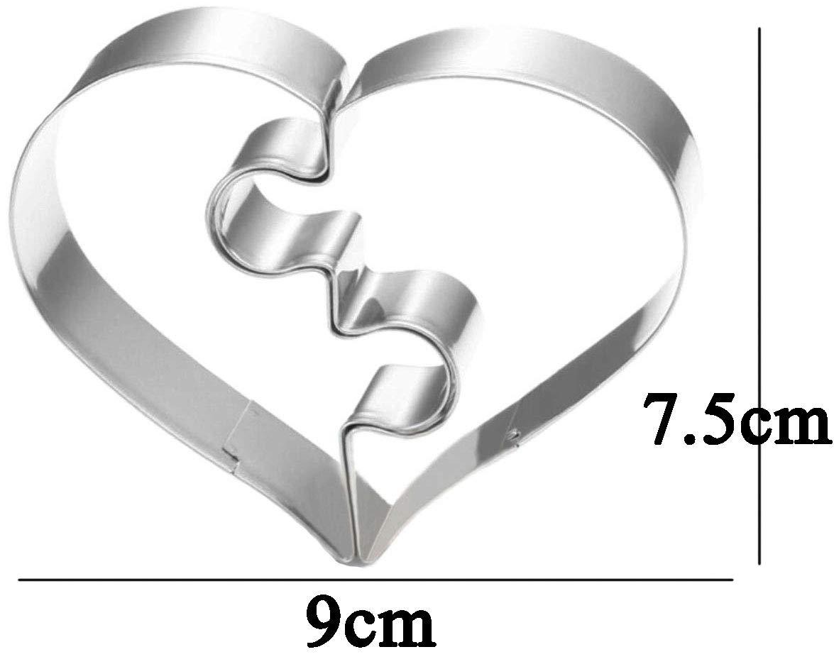 WDYJMALL - Molde para galletas con forma de corazón (acero ...