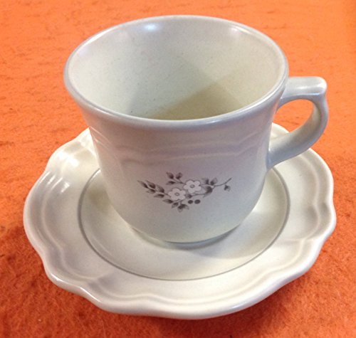 Pfaltzgraff Heirloom Pattern Cups and Saucers, 4 of Each