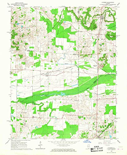 YellowMaps Cypress IL topo map, 1:24000 Scale, 7.5 X 7.5 Minute, Historical, 1966, Updated 1967, 26.9 x 22 in - Tyvek