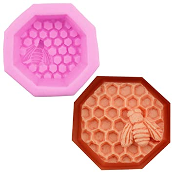 Hunpta - Molde de silicona para fondant de abeja en 3D, para hacer tartas, velas, chocolate rosa: Amazon.es: Hogar