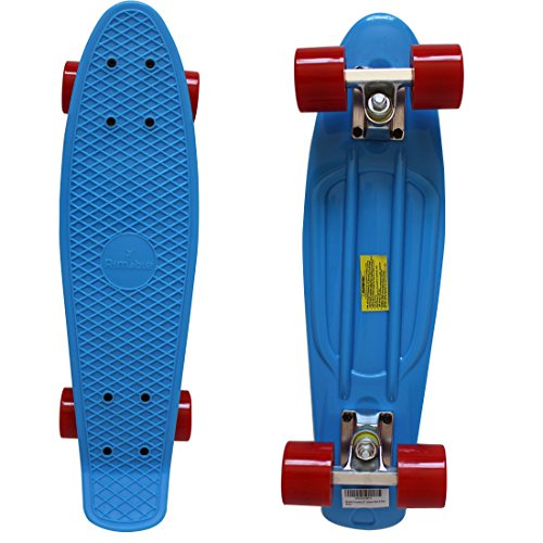 "Rimable Complete 22"" Skateboard (Blue & Red)"