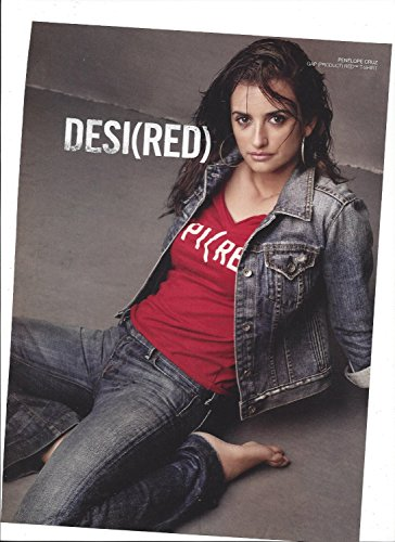 **PRINT AD** With Penelope Cruz For Gap Red T Shirt Desi(red) **PRINT AD** - Gap Red T-shirt