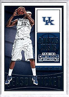2015-16 Contenders Draft Picks Season Ticket Basketball #25 DeMarcus Cousins Kentucky Wildcats Official NCAA Trading Card made by Panini