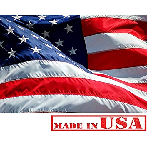 d9e3d38aef9 3x5 ft American Flag ☆100% American Made ☆ US Flag (Top Quality Embroidered