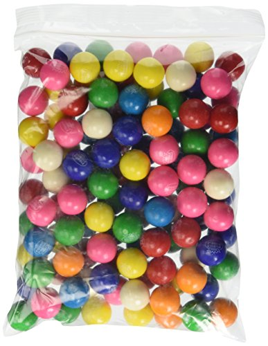 Dubble Bubble Assorted 24mm Gumballs 1 Inch, 2 Pounds Approximately 110 Gum Balls. ()