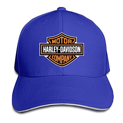 nntbj ajustable Sanwich caza pico sombrero y gorra logotipo de Harley Azul real