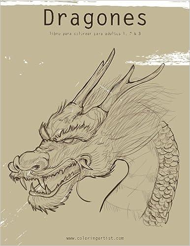 Dragones libro para colorear para adultos 1, 2 & 3: Amazon.es: Nick ...