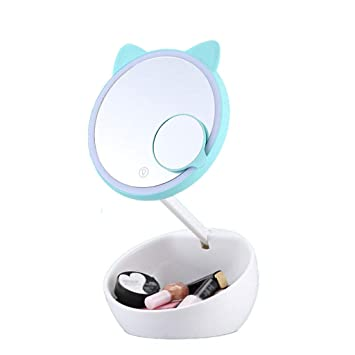 Amazon Com Cartoon Round Vanity Mirror With Lights Makeup Mirror