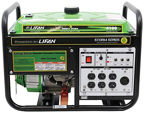 Lifan ES4100 electric ability Storm Gas derived mobile Generator by suggests of  Recoil Start, 4100W Reasonable Price