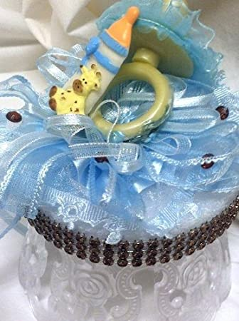 Amazon Boy Blue Giraffe Baby Shower Party Centerpiece Cake