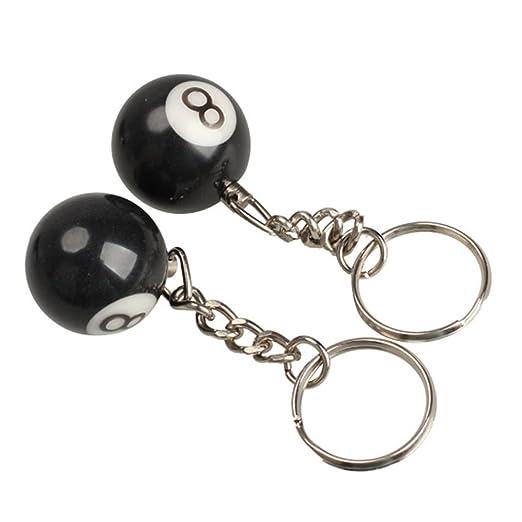 welim llavero llavero llavero de billar Magic 8 Ball Charm llavero regalo juguete lindo creativo y uso de una amplia gama 25 mm nº 8 negro 2pcs