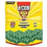 d-CON Corner Fit Mouse Poison Bait Station, 1 Trap + 20 Bait Refills
