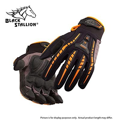 BLACK STALLION ToolHandz Anti-Vibration Leather Mechanic's Gloves GX100 - LARGE