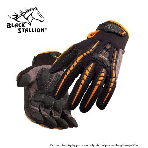 BLACK STALLION ToolHandz Anti-Vibration Leather Mechanic's Gloves GX100 - LARGE
