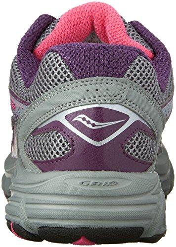Saucony cohesión de la mujer tr9-w Running Shoe Grey/berry/pink