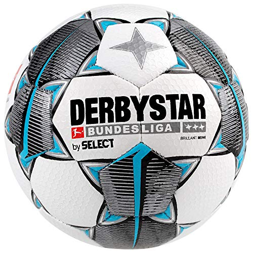 DERBYSTAR 2019/2020 Bundesliga Mini Soccer Ball, White, Size 1 (Germany Mini Soccer Ball)