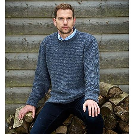 c0f5cbdae Stylecraft Mens Sweater   Cardigan Alpaca Tweed Knitting Pattern 9337 DK   Amazon.co.uk  Kitchen   Home