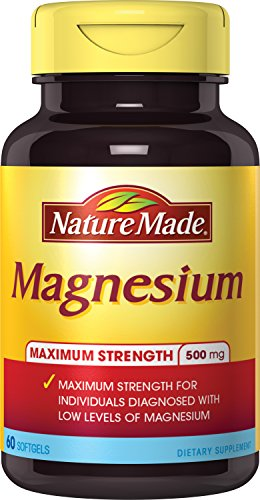 Nature Made Max Strength: Magnesium 500 mg Softgel 60 Ct
