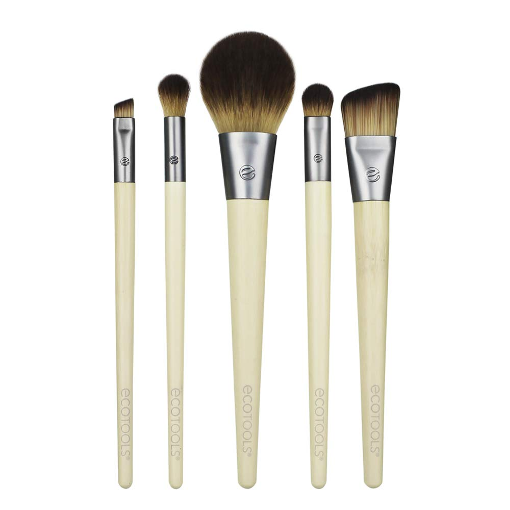 EcoTools Makeup Brush Set for Eyeshadow, Foundation, Blush, and Concealer, Set of 5: Beauty