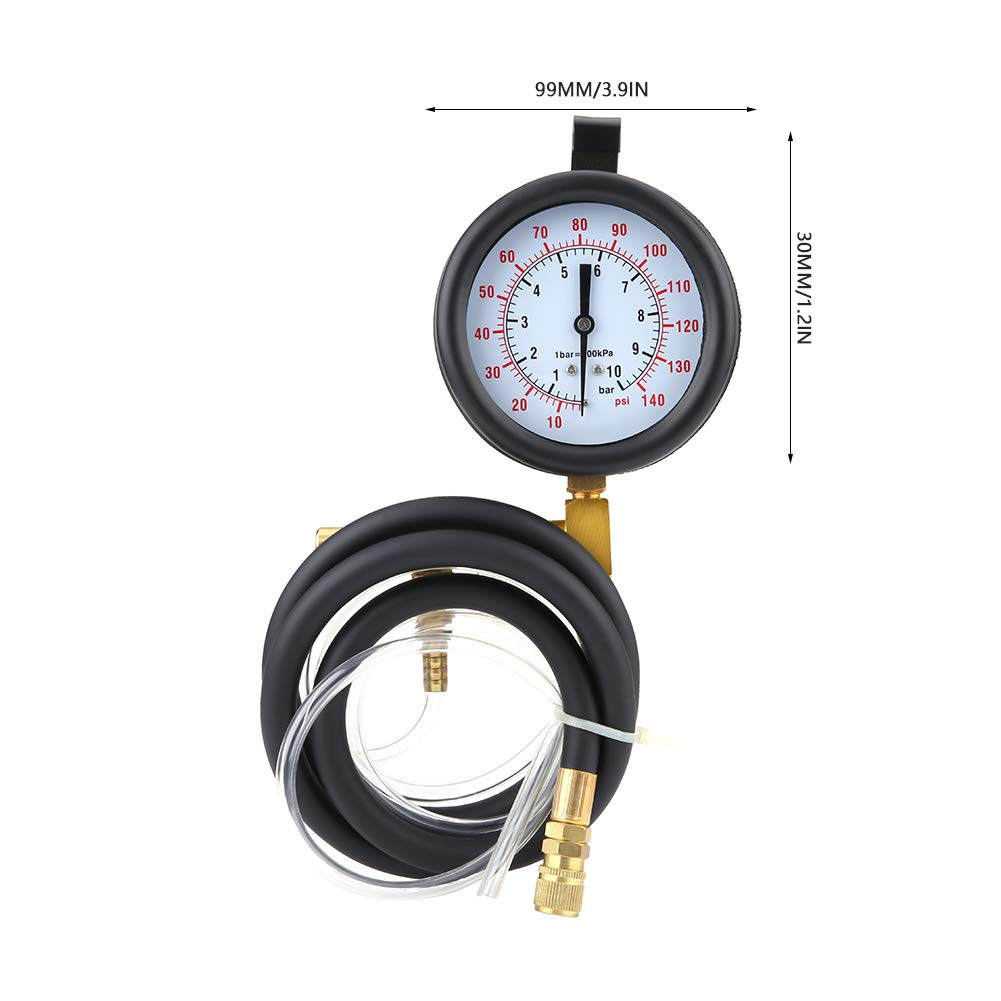 Acouto 46pcs Universal Fuel Pressure Gauge 0-140PSI AC Manifold Gauge Set Car Tools by Acouto (Image #3)